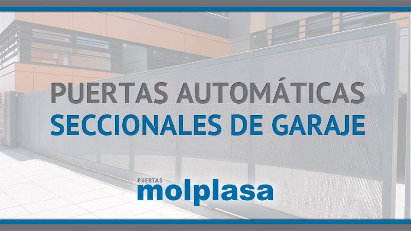 Puertas autom ticas de garaje seccionales puertas molplasa - Puertas para garaje automaticas ...